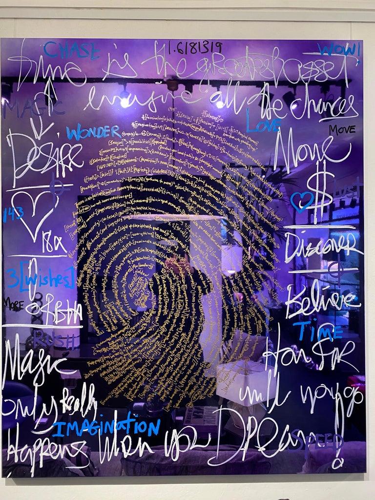 Chrome Brendan Murphy Elements 2020 Fingerprint Series Contemporary Art Painting For Sale
