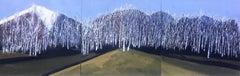 Between Seasons, Painting, Acrylic on Metal