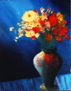 Midnight Bouquet, Painting, Acrylic on Canvas