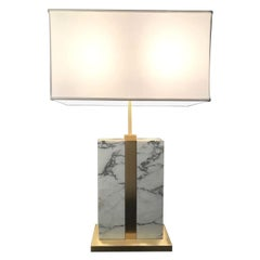 Brera Carrara Table Lamp with Ivory Parchment Shade