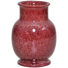 Bretby English Art Pottery Red Pink Vase Ceramic Oriental Pot