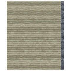 Breton Black - Modern Soft Hand Knotted Bamboo Silk Rug