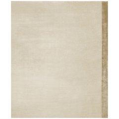 Breton Gold - Plain Soft Hand Knotted Bamboo Silk Rug