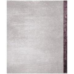 Breton Lavanda - Plain Soft Hand Knotted Bamboo Silk Rug