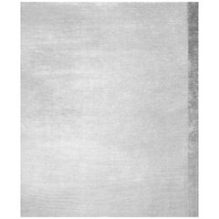 Breton Silver - Plain Traditional Hand Knotted Bamboo Silk Rug