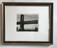 Manhattan Bridge or Untitled (Bridge construction/wire) Rare Vintage