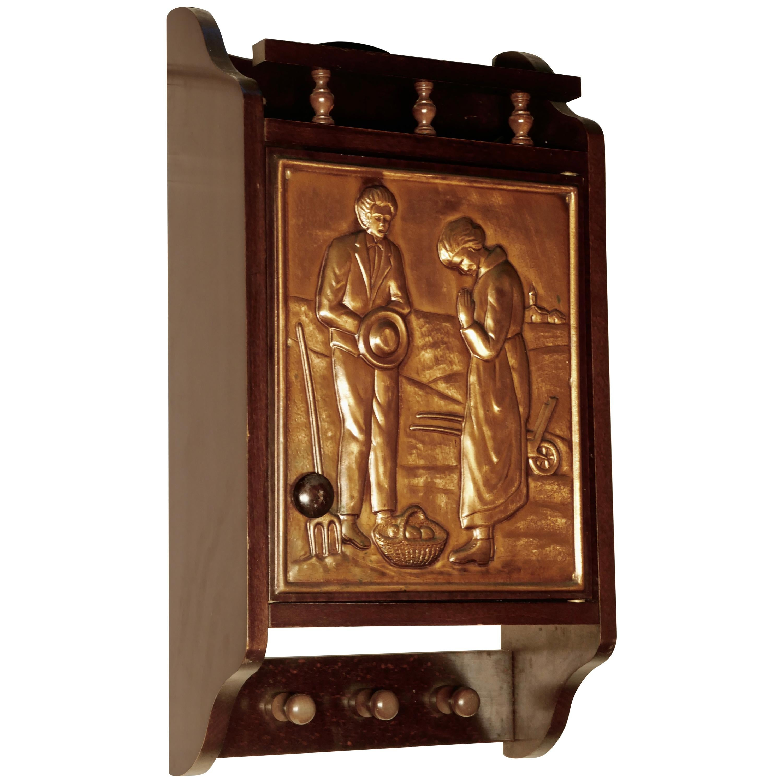 Bretton Arts & Crafts Copper Cloakroom Wall Cabinet