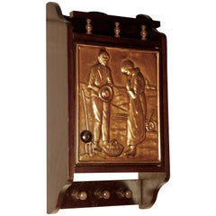 Bretton Arts & Crafts Copper Cloakroom Wall Cabinet