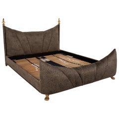 Bretz Ali Baba Velvet Bed Brown Double Bed