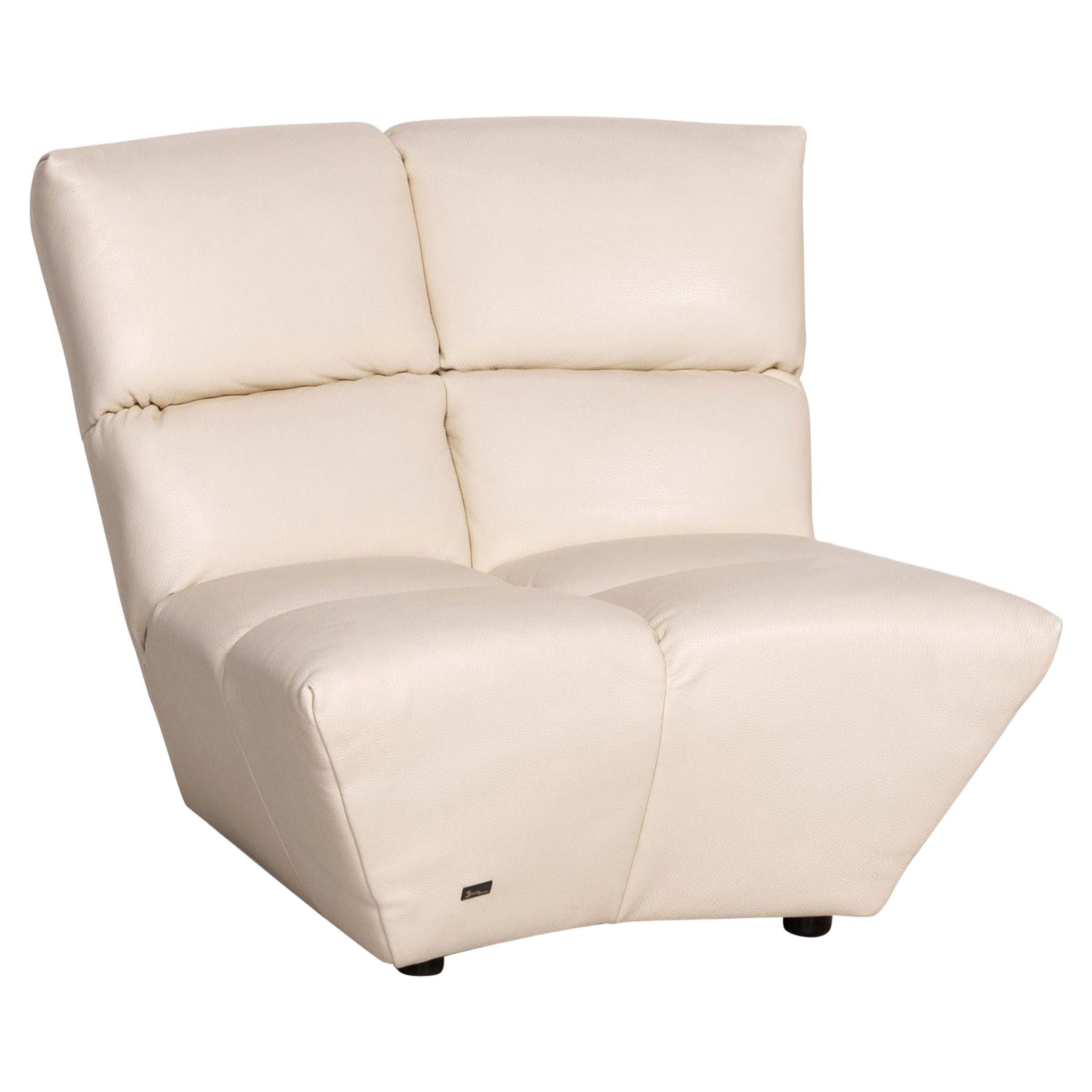 Bretz Cloud 7 Leather Armchair Cream