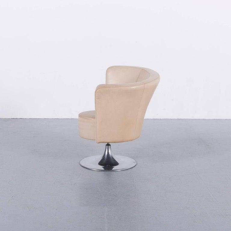 Bretz Eves Island Leather Armchair Set Off-White One-Seat 6