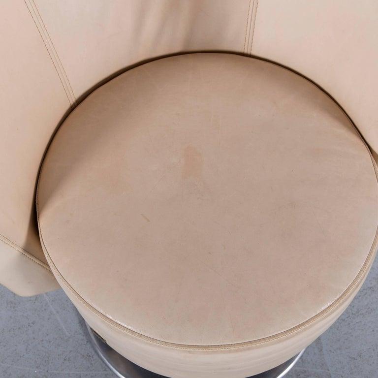 Bretz Eves Island Leather Armchair Set Off-White One-Seat 1