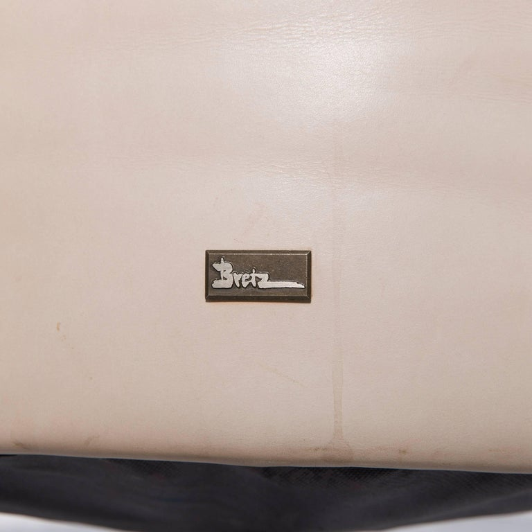 Bretz Eves Island Leather Armchair Set Off-White One-Seat 2