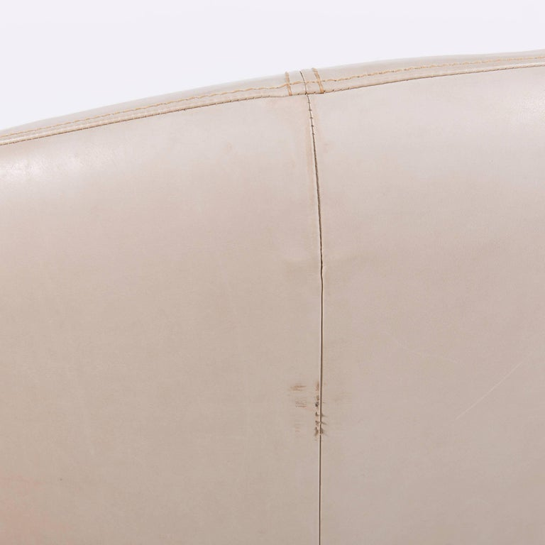 Bretz Eves Island Leather Armchair Set Off-White One-Seat 3