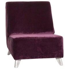 Bretz Fabric Armchair Purple