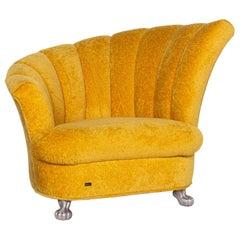 Bretz Fabric Armchair Yellow