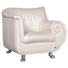 Bretz Gaudi Designer Leather Armchair White