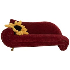 Bretz Gaudi Fabric Sofa Red Three-Seat Incl. Cushion