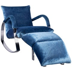 Bretz Highland B132 Designer Armchair Brown One-Seat with Footstool
