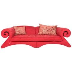 Bretz Mammut G160 Designer Fabric Sofa Red Couch
