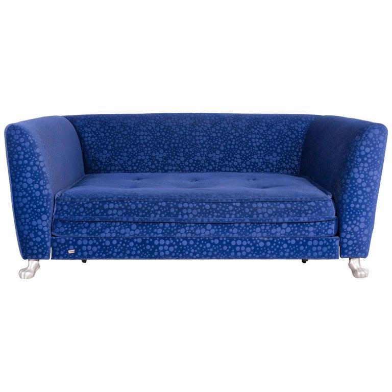 Bretz Monster Designer Fabric Sofa Blue Three-Seat Function