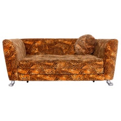 Bretz Monster Designer Fabric Sofa Orange Pattern Look Three-Seat Couch Function