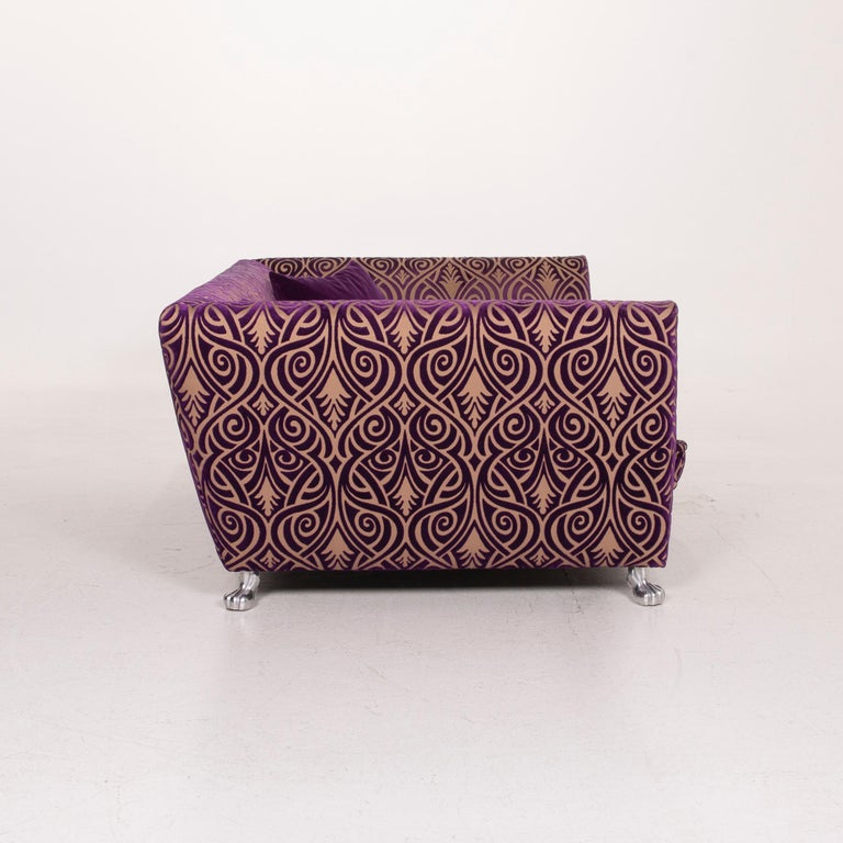 Bretz Monster Fabric Sofa Purple Three-Seat 4