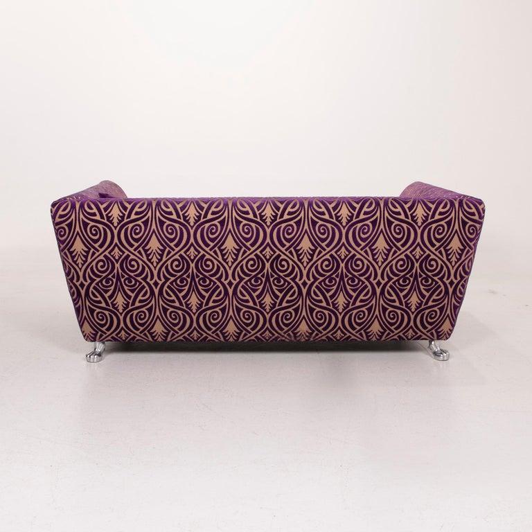 Bretz Monster Fabric Sofa Purple Three-Seat 5