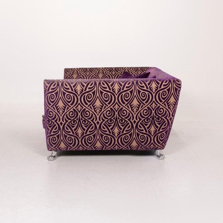 Bretz Monster Fabric Sofa Purple Three-Seat 6