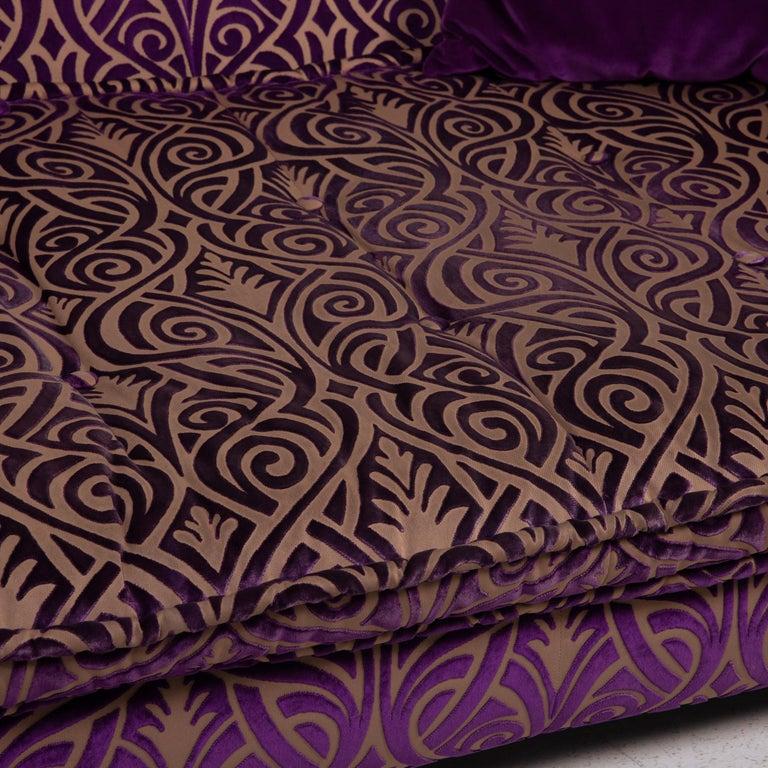 Modern Bretz Monster Fabric Sofa Purple Three-Seat