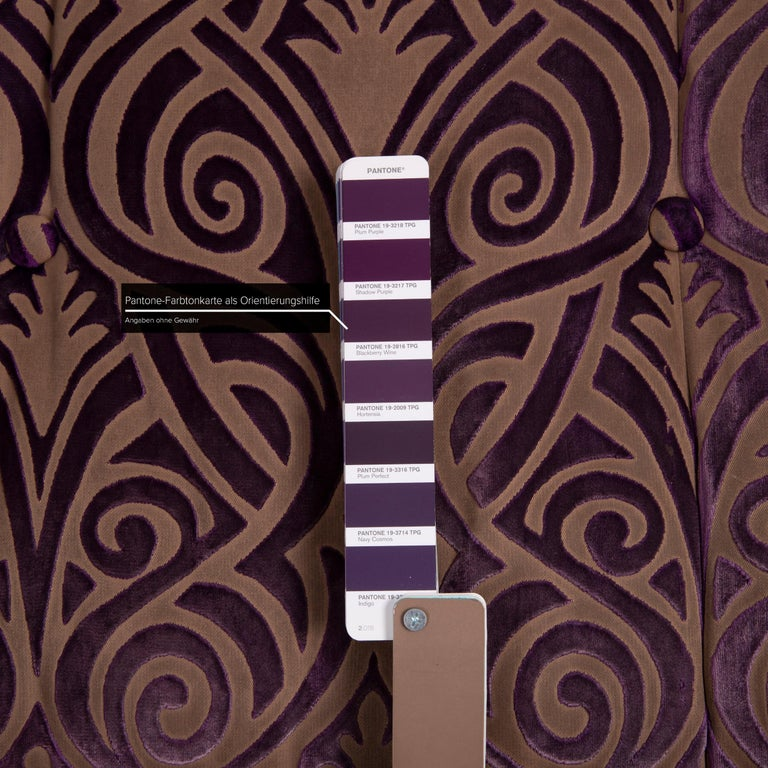 Bretz Monster Fabric Sofa Purple Three-Seat In Good Condition In Cologne, DE