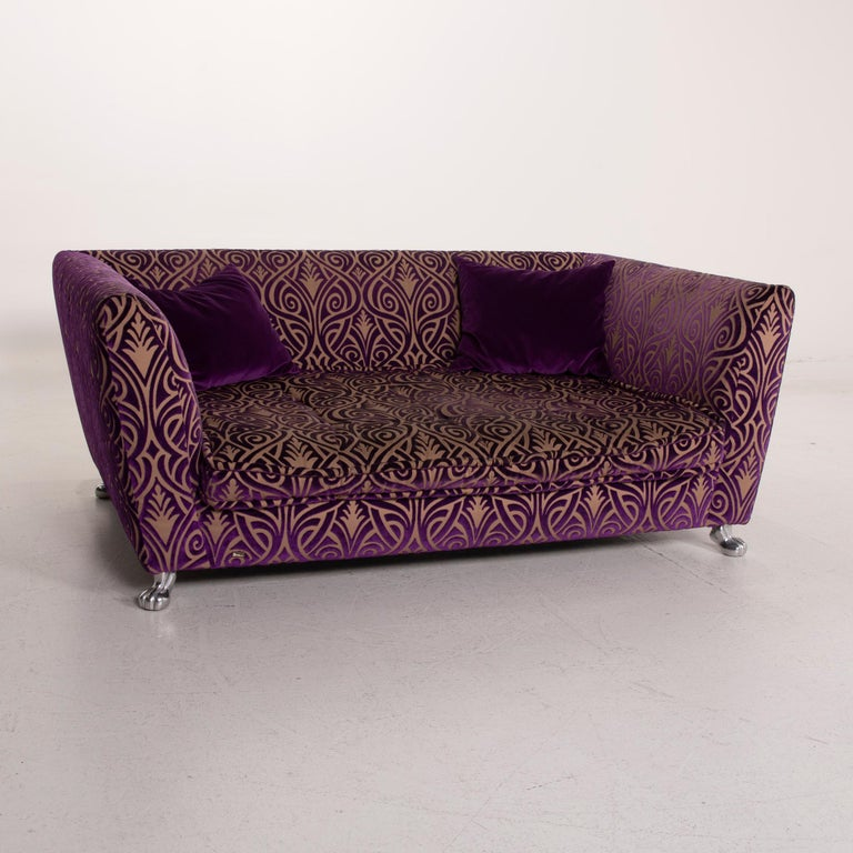 Bretz Monster Fabric Sofa Purple Three-Seat 1