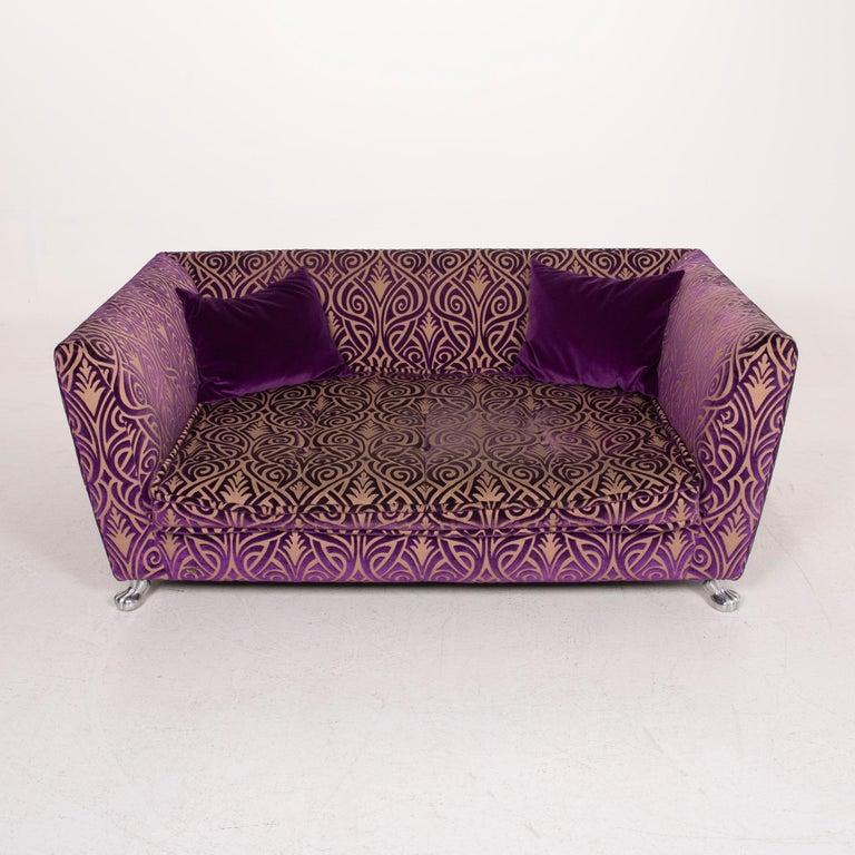 Bretz Monster Fabric Sofa Purple Three-Seat 3