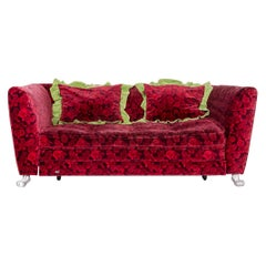 Bretz Monster Fabric Sofa Red Three-Seat Couch Function Sofa