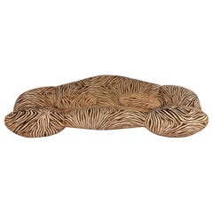 Bretz Mumba Fabric Sofa Brown Three-Seat Patterned Animal Print