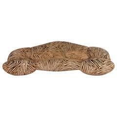 Bretz Mumba Fabric Sofa Brown Three-Seat Patterned Animalprint
