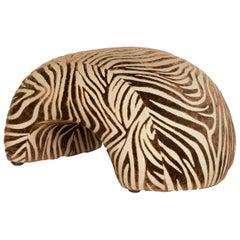 Bretz Mumba Fabric Stool Brown Patterned Animalprint