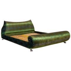 Bretz Napali Double Bed Green Blue Incl. 2 Slatted Bed