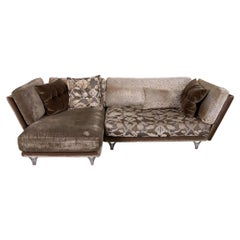 Bretz Napali Fabric Sofa Brown Corner Sofa Couch Pattern