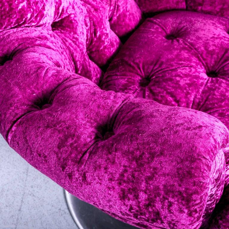 Bretz Pompadou Fabric Armchair Set Purple Red One Seat 4