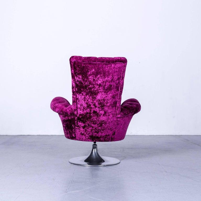Bretz Pompadou Fabric Armchair Set Purple Red One Seat 6