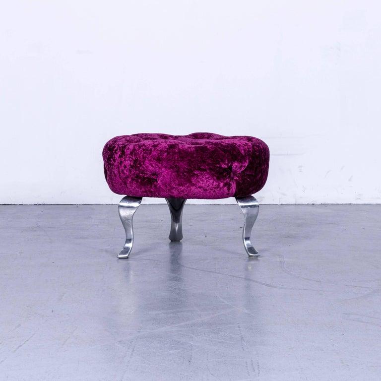 Bretz Pompadou Fabric Armchair Set Purple Red One Seat 8