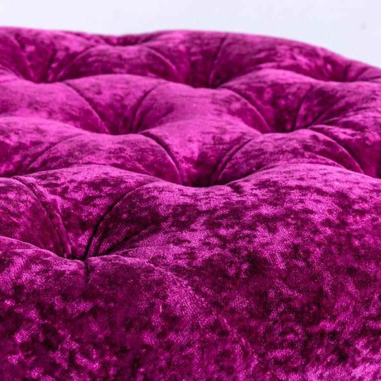 Bretz Pompadou Fabric Armchair Set Purple Red One Seat 9