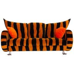 Bretz Prison Duck Fabric Sofa Yellow Three-Seater Black Tiger Pattern