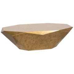 Bretz Stealth Metal Coffee Table Gold Table