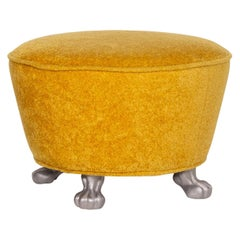 Bretz Velvet Fabric Stool Yellow