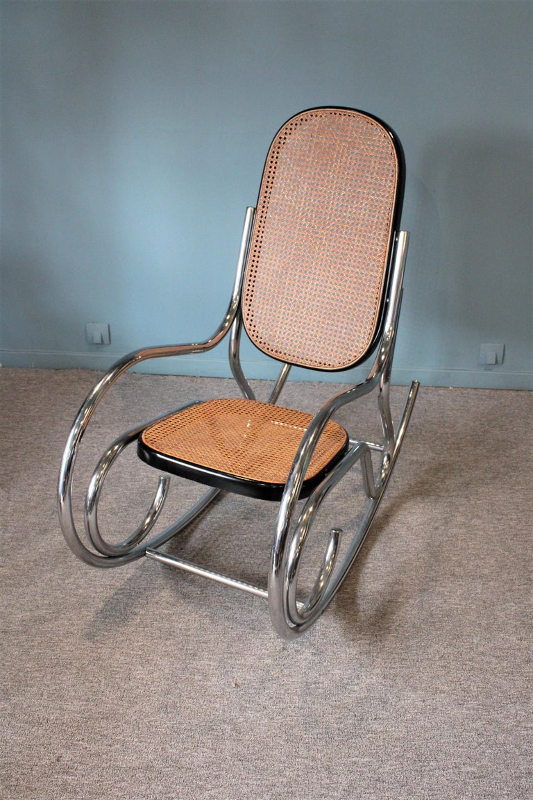 Metal Breuer Rocking-Chair For Sale