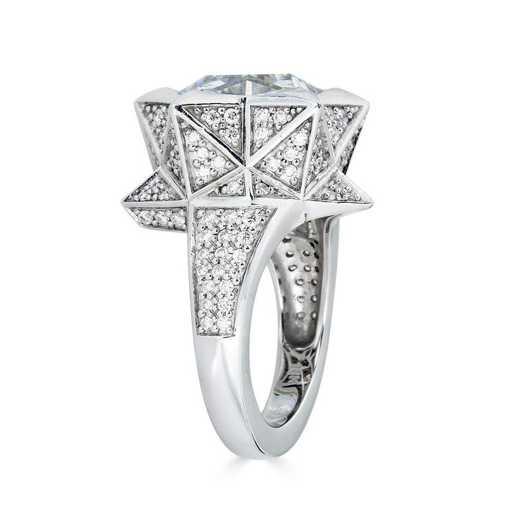 Brevard Customizable Star Engagement Ring In New Condition For Sale In Coral Gables, FL