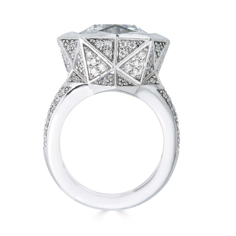 Brevard Customizable Star Engagement Ring For Sale 1