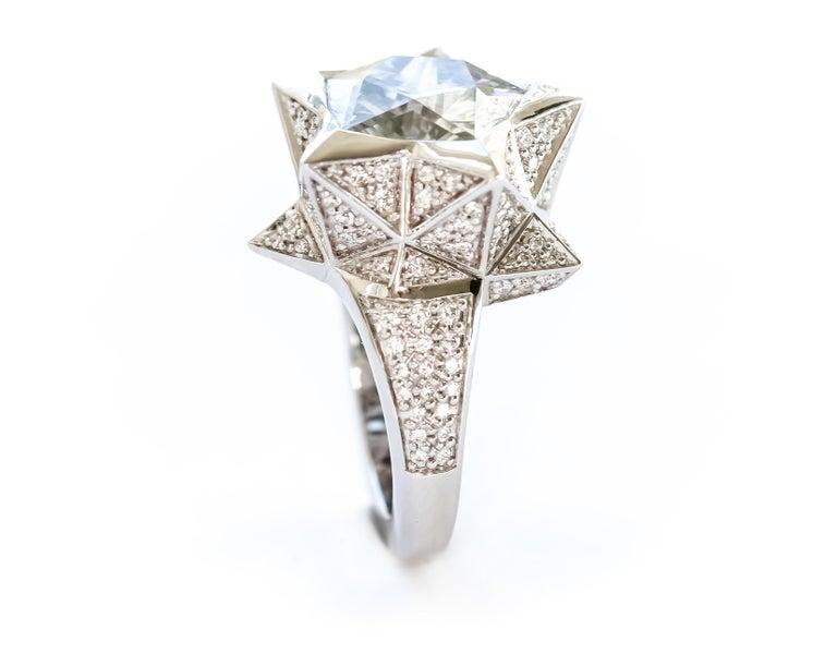 Brevard Customizable Star Engagement Ring For Sale 2